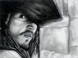 My 1st drawing of Jack Sparrow by insignificantartist