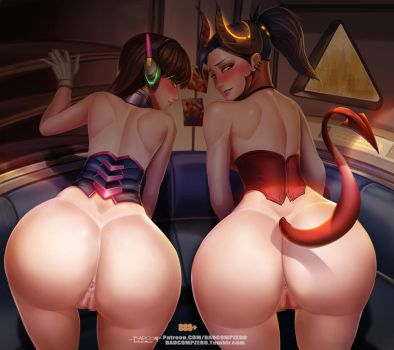 Dva X Devil Mercy ,plz choose me by BADCOMPZERO