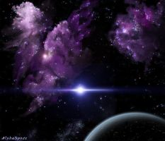 Purple Nebulas by AlphaSpace