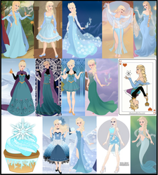 Elsa Collage by M-Mannering