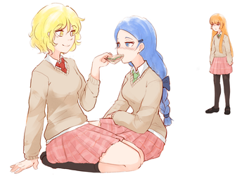 Blue and Yellow by Hiwonoafu
