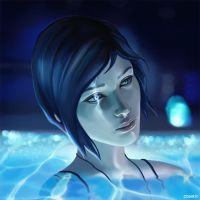 Chloe in the swimming pool by ocsanse