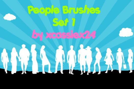 People Brushes Set 1 by xCassiex24