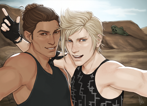 Bart meets Prompto by Merwild