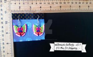 Watermelon Butterfly Earrings by TheTrueGypsyQueen