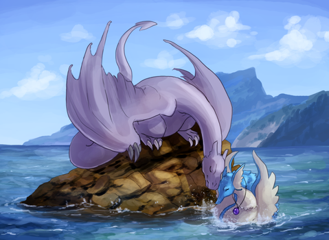 Sky And Sea by Krisantyne