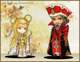 Trinity Blood - Mirka and Baybars Chibi by Hana-May