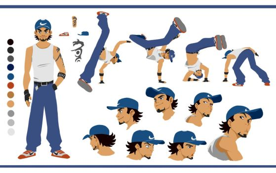 character design for flash animation by Doguras