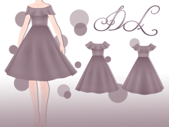 .:: MMD Off Shoulder Dress - DOWNLOAD ::. by AneCoco