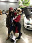 Captain Jack Sparrow with Harley Quinn by JUMBOLA