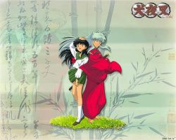 Kagome_Inuyasha 1280 by zevin