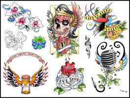 tattoo flash 3 by reindas