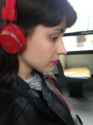 Listening to music in the bus by violetasilvestre2011