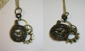 Clock Bauble Steampunk Necklace by DanielleDucrest