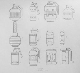 Weapons of the USN: Grenades (Project A) by AngelOfNope