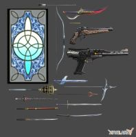 Final Fantasy Type-0: Character Weapons Pack by xHolyxLightx