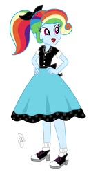 EQG Series - Rainbow 1950's style by ilaria122