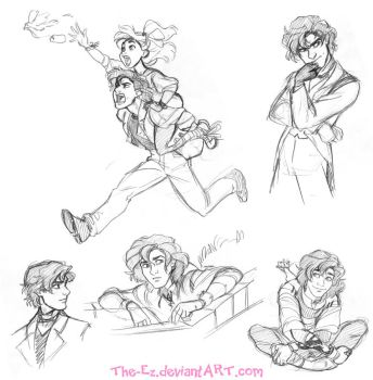 Awkward Gangfield Sketches - April 2015 by The-Ez
