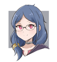 Little Witch Academia - Ursula (Colored Sketch) by chocomiru02