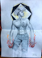 Zodiac signs as male witches, Leo by yo-sociopath