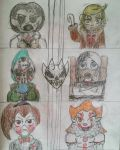 The Marelovent Six as  Horror Cypher by TobiIsABunny