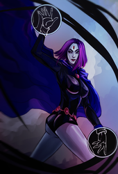 Raven Teen Titans by AntaRF