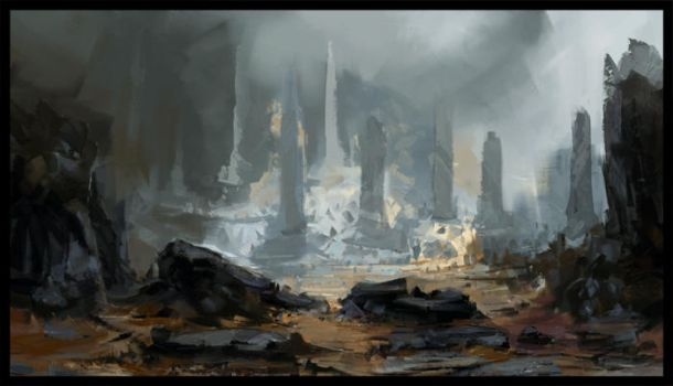 Environment Sketch by Koily
