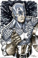 Captain America grayscale by ToddNauck