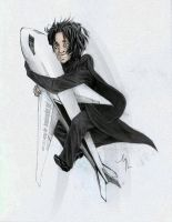SNAPE'S ON A PLANE by lululinart