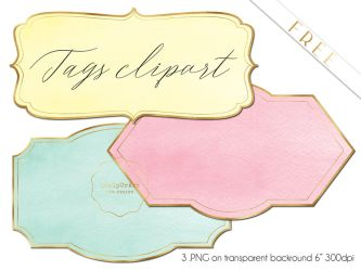 FREE Tags Clipart  .PNG by iCatchUrDream