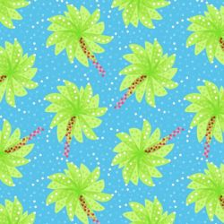 Abstract palm trees pattern  by azzza