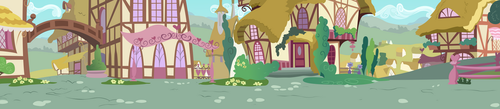 Ponyville Road Side View by BonesWolbach
