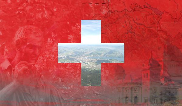 Switzerland Wallpaper Suica by IroniaWhite