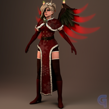 Holiday Mercy Render WIP by GusMash3D