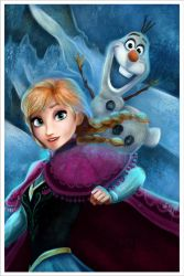 Anna - Olaf Frozen. by Niniel-Illustrator