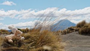 Max and Hase at Mount Ngauruhoe by Deceptico