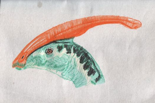 Parasaurolophus (Markers) by ivanprime93