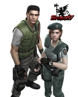 Jill And Chris - Render 2 by snakeff7