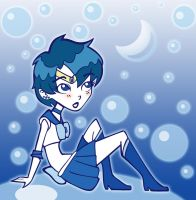 Sailor Mercury - Retro by chaoticteapot