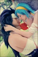 Just lend me a kiss. by HiryuCosplay