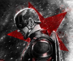 Captain America: Civil War - Captain America by p1xer