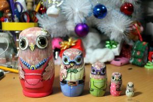 Matryoshka owl family #3 by ItsMyUsername