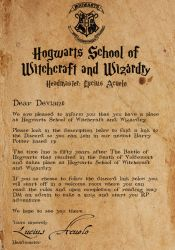 Hogwarts RP Acceptance Letter by albinoraven666fanart
