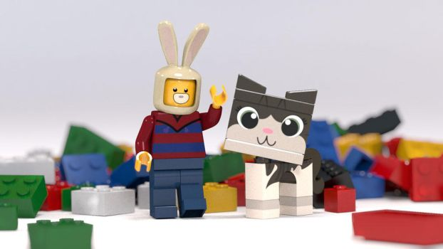 Zack and Boris in lego form! by zackaryrabbit