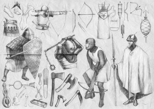 Medieval tunics, tools and weapons (7) by Nomatterwhat1984