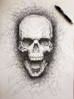 The laughing skull by Psyca-art