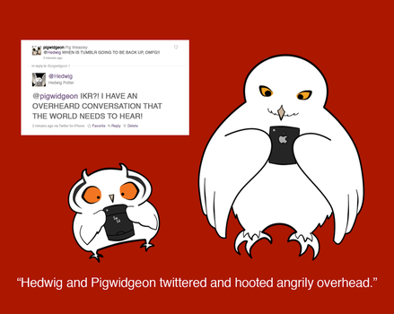 Hedwig and Pigwidgeon Twitter by Rotae