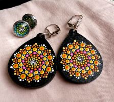 Mandala earrings by lPrimrose