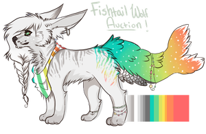 Fishtail Wolf Auction!: [CLOSED] by SwashbuckIer
