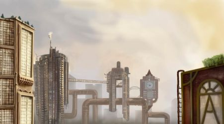 Steampunk City by timtoe